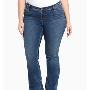 Torrid Source of Wisdom slim bootcut jeans…